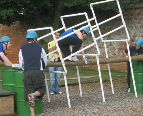 A corporate team building exercise at Middle Aston House