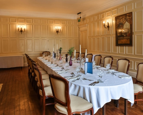 Deddington, Main dining room, formal dining setup