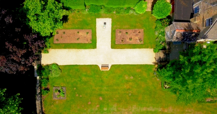 Aerial View of Middle Aston House Rose Garden