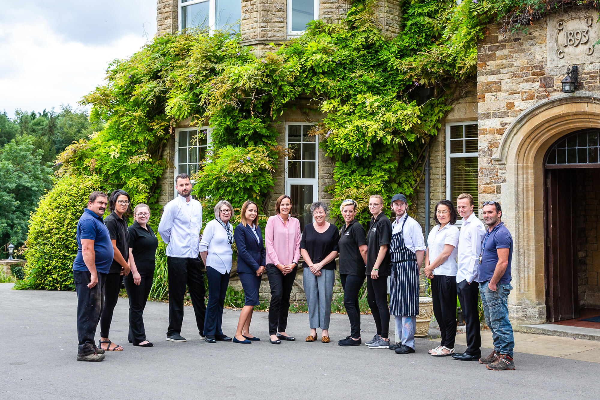 The team at Middle Aston House outside the Main House