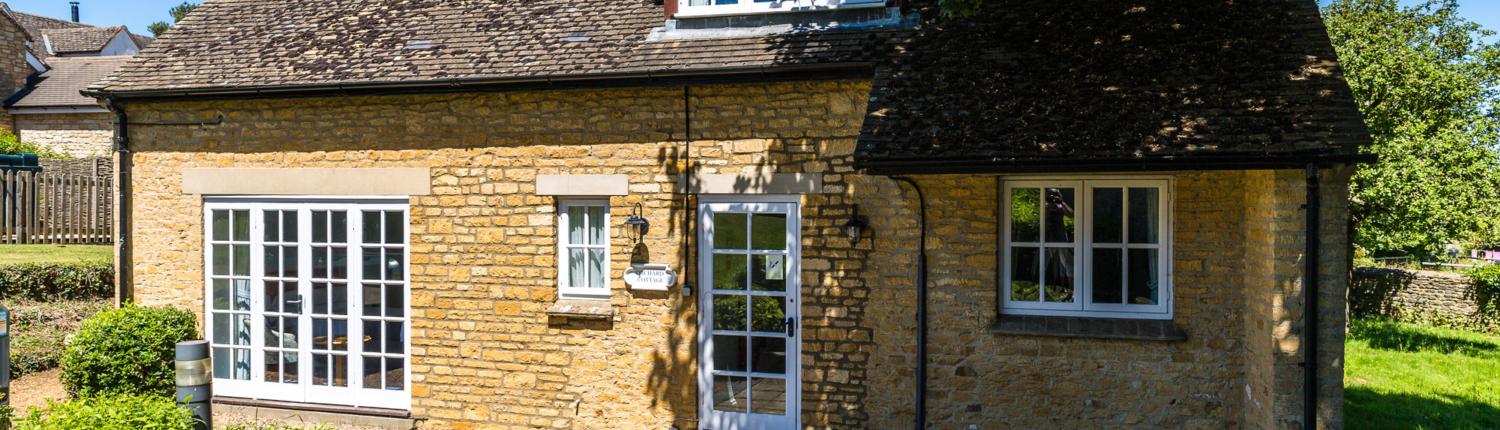 Exterior image of the Cottage Accommodation in Middle Aston House Oxfordshire