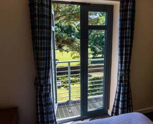 Windows to the Balcony in one of our bedrooms. Middle Aston House Oxfordshire