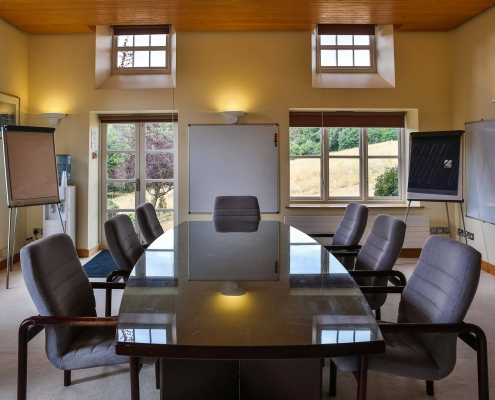 Oakroom set in Boardroom style