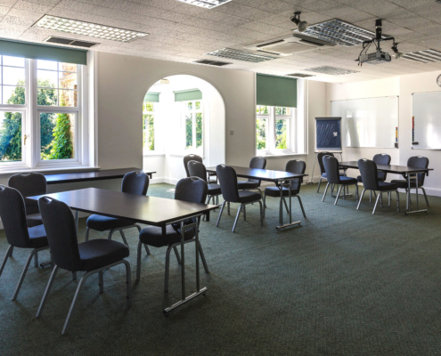 Sir Francis Page Meeting and Function Room set classroom style at Middle Aston House