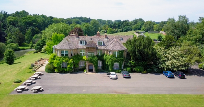 Aerial View of Middle Aston House Oxfordshire